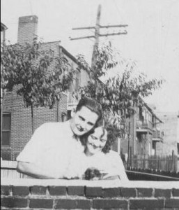Arthur and Marie Landsbury in a Wellston neighborhood, early 1930s