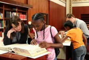 Wellston students conducting historical research